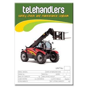 Background Check After Starting Telehandler Safety Check Logbook Buy Commercial Logbook Personalised Custom