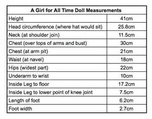 a girl for all time measurements 63 best american doll sizing images on