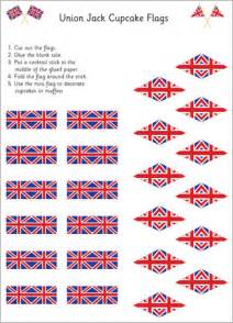 union jack cupcake flags free early years amp primary