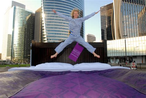 largest bed ihg hosts the world s biggest bed jump to celebrate the world s biggest free