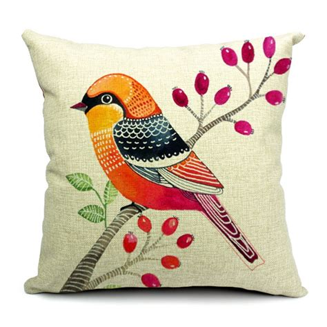 How To Design Pillow Covers - rubihome cushion cover design print animals birds