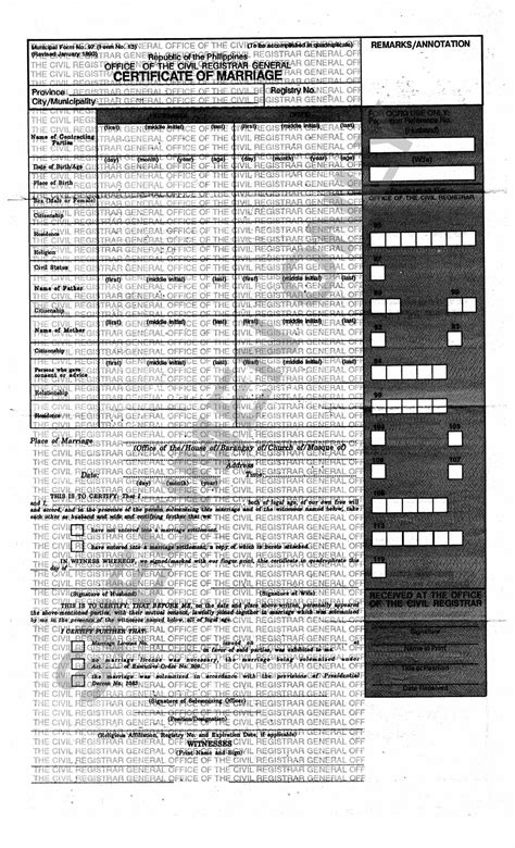 Marriage Records Philippines Marriage Of And Foreign National In The