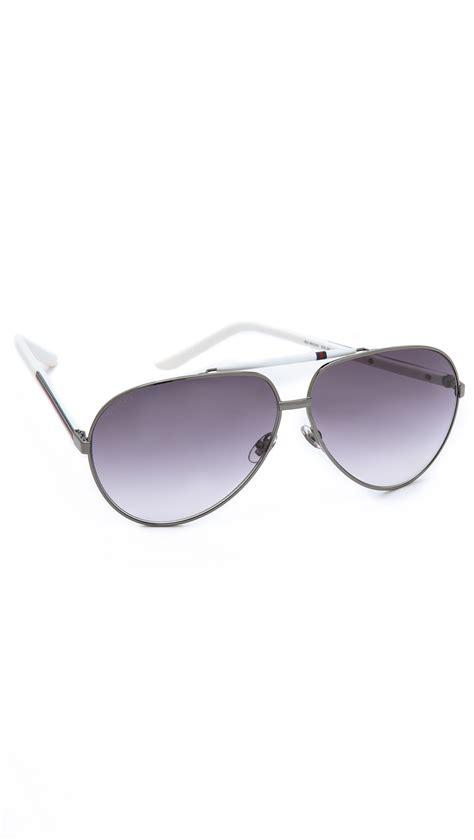 Metal Aviator Sunglasses gucci metal aviator sunglasses in blue for