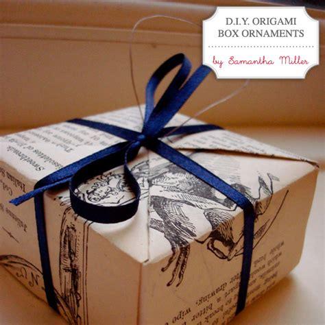 Diy Origami Box - diy origami box ornaments diy by