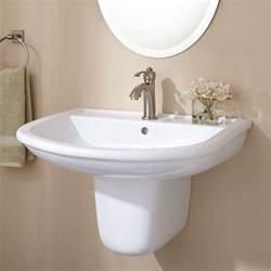 pedestal sinks bathroom burgess porcelain wall mount semi pedestal sink bathroom