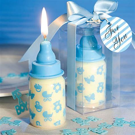 baby bottles favors baby shower 25 baby shower favors blue baby bottle candle favors