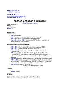 Lettre De Motivation Vendeuse En Boulangerie Mi Temps Model 195 169 Cv Vendeuse En Boulangerie