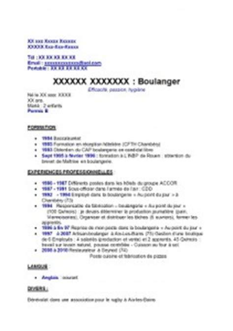 Lettre De Motivation Anglais Boulangerie Exemple De Cv Boulanger Exemples De Cv
