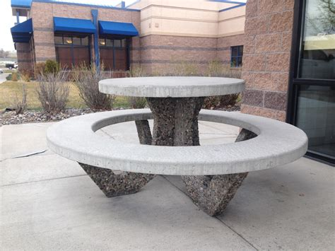 concrete benches and tables concrete round table and benches designer tables reference