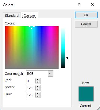 excel color palette show color palette dialog box with vba xldialogeditcolor