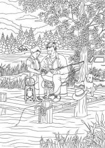 spring house coloring pages country spring country fishing printable adult