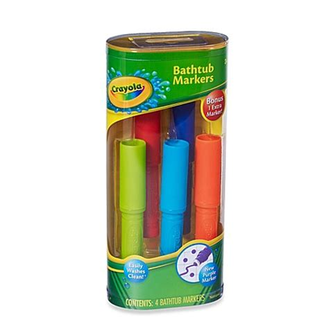 bathtub markers bath toys gt crayola 174 4 pack bathtub markers from buy buy baby