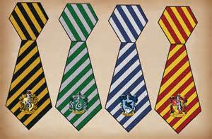 printable hogwarts house ties harry potter house crests