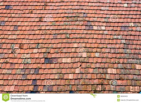 pattern roof tiles old red tile roof pattern stock photos image 38593453