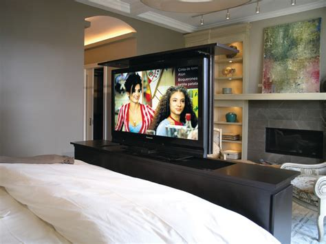 tv for bedroom tv lift for bedroom contemporary bedroom chicago