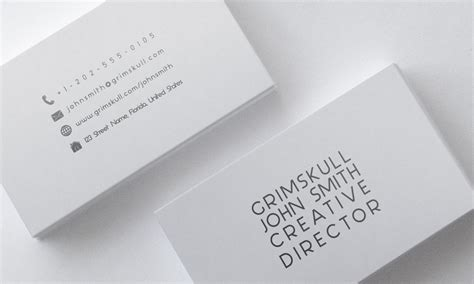 White Business Card Template minimalist white business card template by nik1010 on