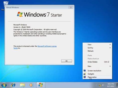 tutorial instal windows 7 starter windows 7 starter home basic aero patch xenginez