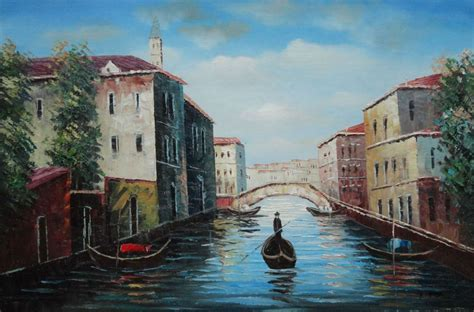 italian water italian venice water painting italy naturalism 24 x 36 inches with frame