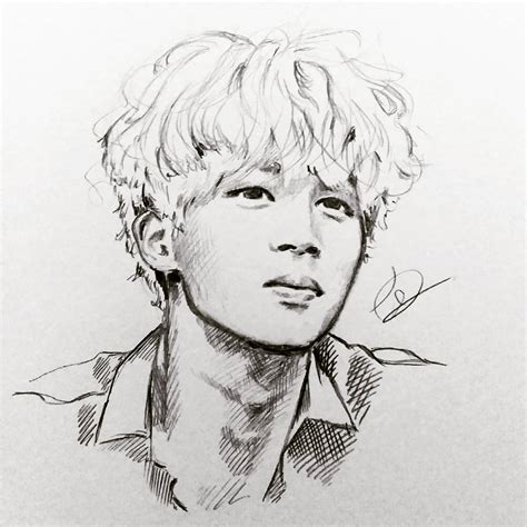V Drawing Jimin by Jimin Bts Wow This Is Amazing Credits To Owner
