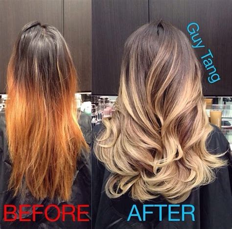 guy tang hair before and after my before and after picture of my hair done by the