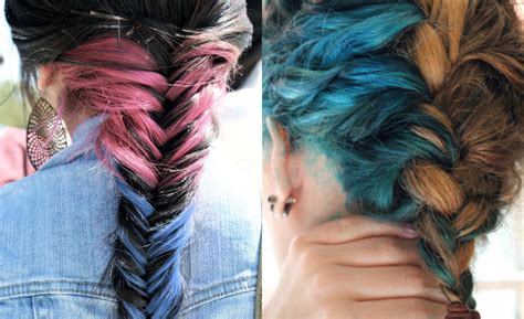 colored braids striking multi colored braids hairstyles hairdrome
