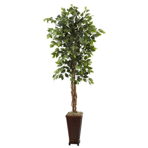 6 5 silk ficus tree with decorative planter artificial