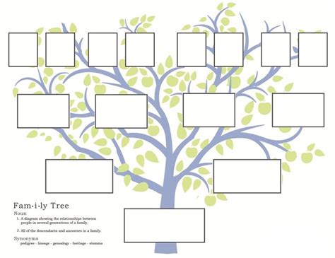 blank family tree template for family tree template printable vastuuonminun