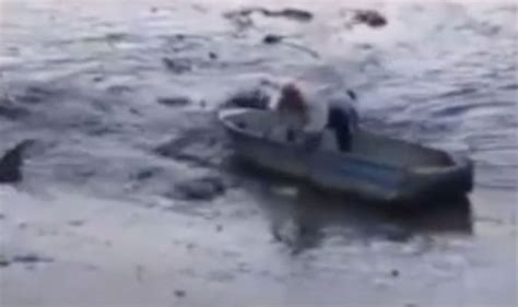 speed boat viral video viral video shows the shocking moment a boat is sucked