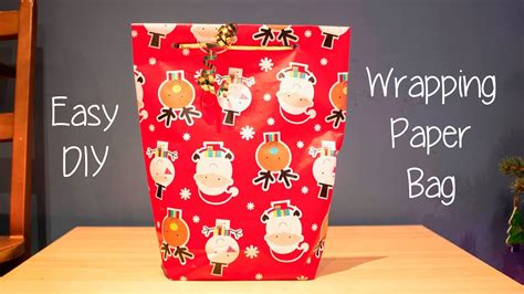 How To Make Bag Out Of Wrapping Paper - how to make a gift bag out of wrapping paper