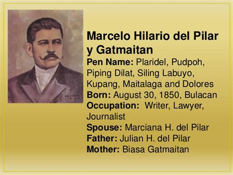 biography meaning in filipino quotes by marcelo h del pilar like success