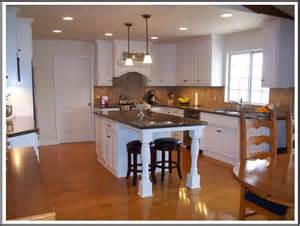 kitchens with island kitchen butcher block islands with seating cabin staircase farmhouse medium specialty