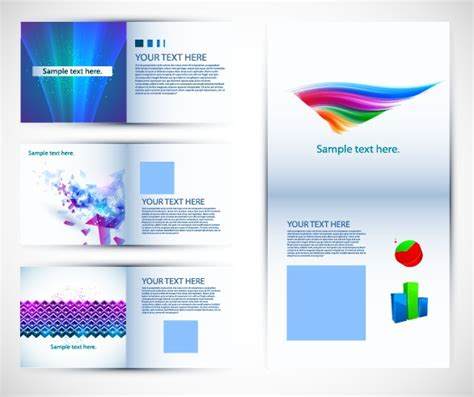 abstract brochure template design vector vector cover