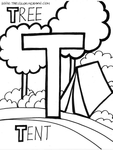 coloring page letter t free coloring pages of the letter t