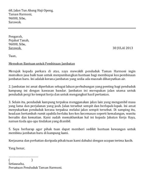 Contoh Surat Permohonan Bantuan Guru