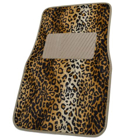 Leopard Car Floor Mats by Animal Print Front Rear Car Floor Mats Steering Wheel