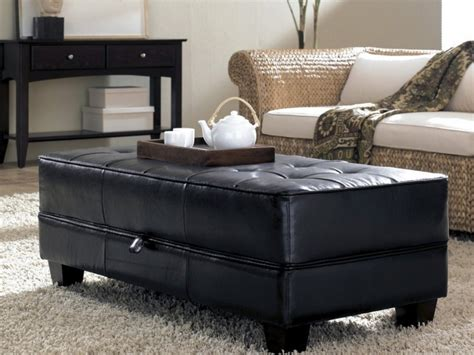black leather ottoman coffee table leather ottoman coffee table black leather ottoman