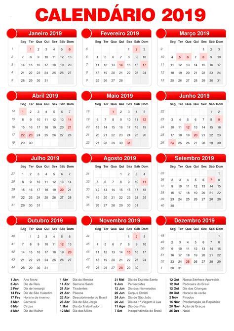 Calendario 2018 Carnaval Calend 225 2019 Feriados Calend 225