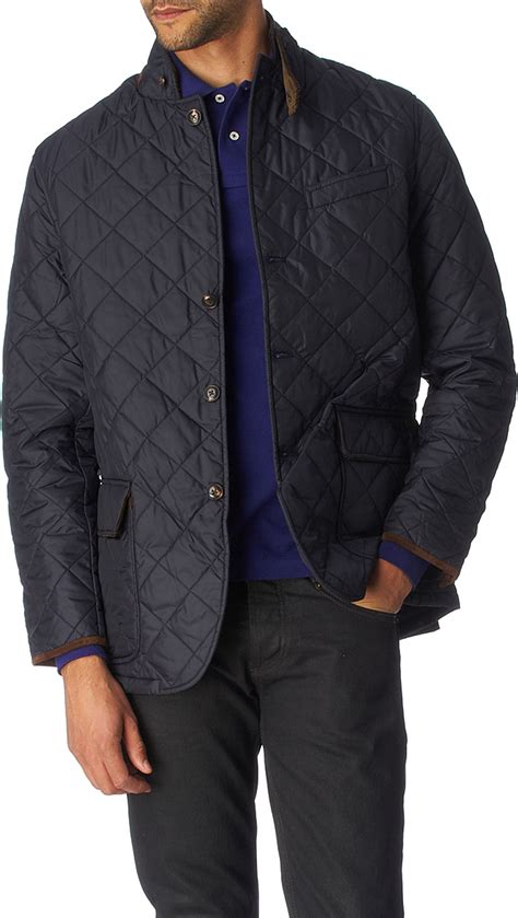 Mens Quilted Sport Coat by Ralph Quilted Sport Coat In Blue For Navy Lyst