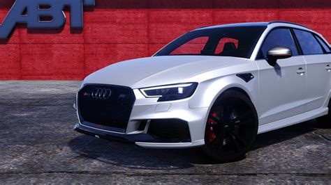 Audi Rs3 Mods by Gta 5 Audi Rs3 Sportback 2018 Add On Tuning Abt Mod