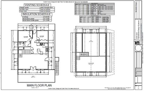 cabin blueprints free 28 x 28 1 1 2 story cabin with loft cabin plans