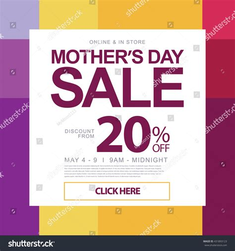 mothers day holiday sale promotion design stock vector