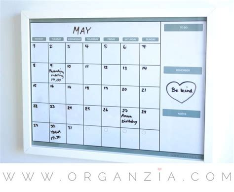 how to make a erase calendar from a picture frame best 25 erase calendar ideas on erase