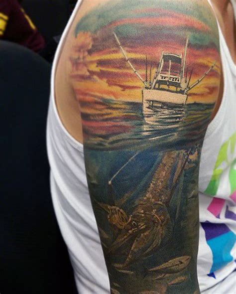 fishing tattoos for men 75 fishing tattoos for reel in manly design ideas