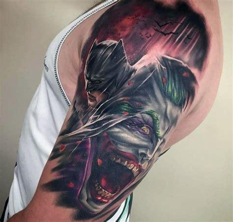 tattoo new school batman new school style colored shoulder tattoo of batman with