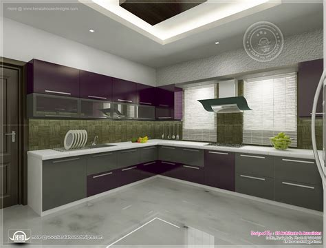 interior of kitchen kitchen interior views by ss architects cochin kerala