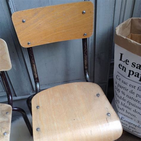 chaise enfant vintage chaise d ecole en bois pour enfant style vintage
