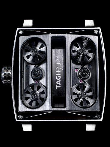 Jam Tangan Tag Heuer Monaco Sixty Nine niesamowity zegarek z mechanizmem jak silnik samochodu