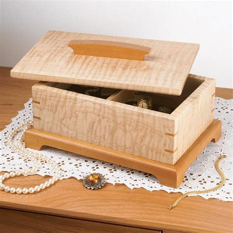 secret compartment jewelry box woodworking plan  wood