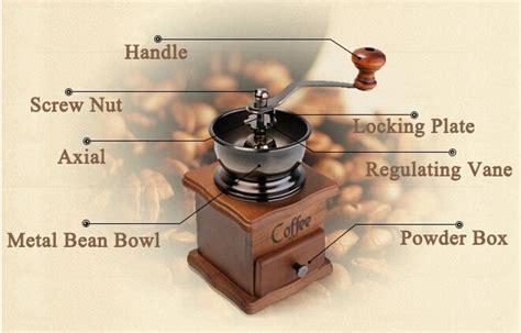 Vintage Manual Coffee Grinder Intl manual driven coffee vintage retro grinder brown