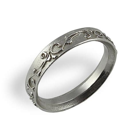 eheringe ornament ornament wedding band white gold unique wedding ring